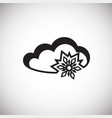 snow cloud on white background vector image vector image