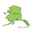 State of Alaska vector image vector image