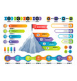 step infographics pyramid graph with process vector image vector image