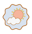 symbol sun and cloud cartoon character vector image