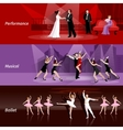 Theater People Horizontal Banners Set vector image vector image