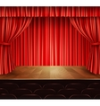 Theater stage background vector image vector image