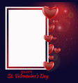 valentine s day love and feelings background vector image vector image