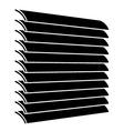 venetian blinds black symbol vector image vector image