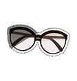 Vintage fashion glasses vector image vector image