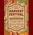 Vintage Harvest Festival Poster vector image vector image