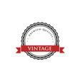 vintage logo vector image vector image