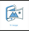 vr image flat line icon vector image vector image