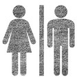 wc persons fabric textured icon vector image vector image