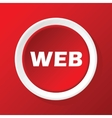 WEB icon on red vector image vector image