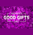 womens day good gifts vector image vector image