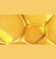 yellow transparent soft bubbles vector image vector image
