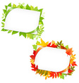 Leafs And Blank Gift Tag vector image