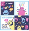 Monster party cards vector image