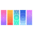 a set of yoga mats with decorative floral mandalas vector image