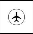 airplane mode solid icon mobile sign vector image