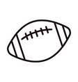 american football ball sport equipment line style vector image
