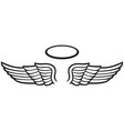 angel wings and halo icon vector image