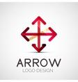 arrow company logo vector image