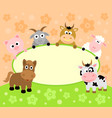 background card with funny animals vector image vector image