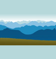 beautiful panoramic view of the blue mountains vector image