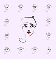 beret hat girl icon hat girl icons universal set vector image vector image