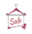 Best Price Sale Banner Fashionable Clothes vector image