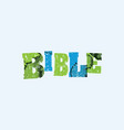 bible concept stamped word art vector image