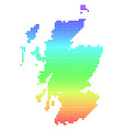 bright dot scotland map vector image vector image
