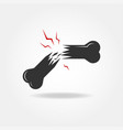 broken bone icon vector image