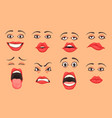 cartoon women mouth set vector image vector image
