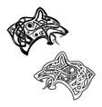 celtik wolf vector image vector image