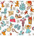christmas icons christmas set poster 2017 vector image vector image