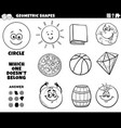 circle shape educational task for kids coloring vector image vector image