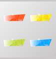 colored shiny glass banners on a gray background vector image vector image