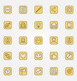 colorful blog icons collection vector image vector image