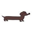 comic cartoon dachshund vector image vector image