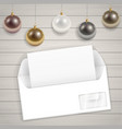 congratulatory christmas envelope vector image vector image