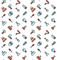 Constructing and building icons seamless pattern vector image