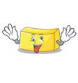 crazy butter mascot cartoon style vector image vector image