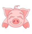 cute pig funny piggy vector image vector image