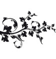 decorative floral branch vector image