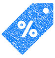 discount tag grunge icon vector image