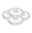 donuts dessert cartoons vector image