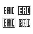 eac mark symbol set vector image vector image