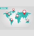 earth marked on the map vector image vector image