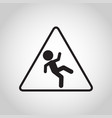 falls prevention logo icon vector image