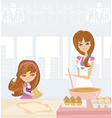 Family baking cakes vector image vector image