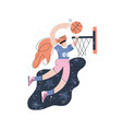 female basketball player hand drawn vector image