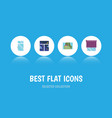 flat icon window set of clean glazing frame and vector image vector image
